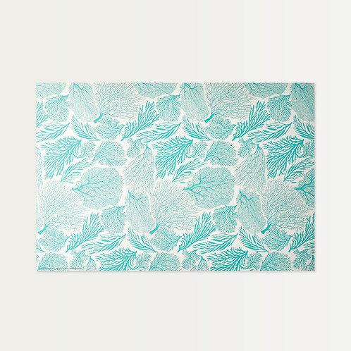 Mint Coral Paper Placemats