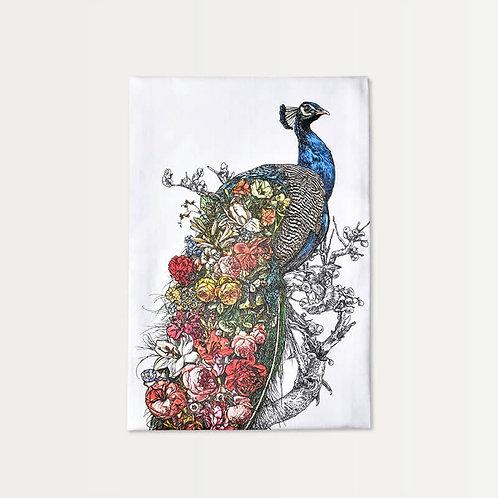 Peacock's Garden Cotton Towel