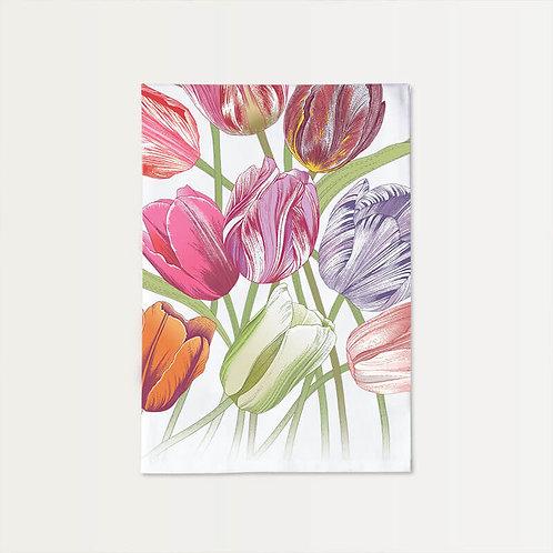 Eleven Tulips Cotton Towel