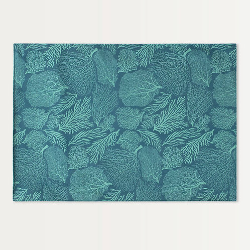 Reversible Coral Placemats - Set of 4