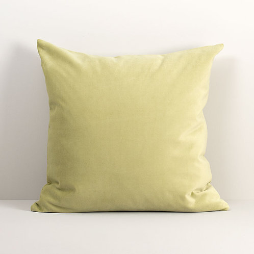 Velvet Square Pillow Cover in Moss