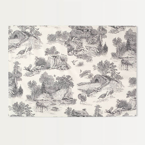 Gray Woodland Toile Placemats - Set of 4