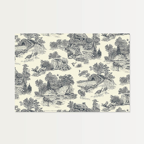 Gray Toile Paper Placemats