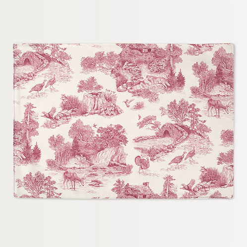 Red Woodland Toile Placemats - Set of 4