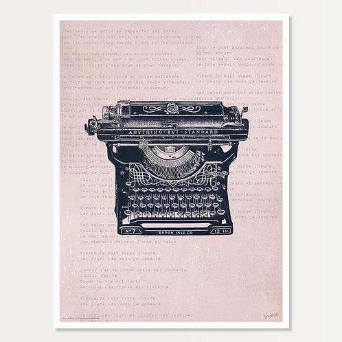 Antique Typewriter Art Print 18x24