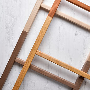 Two beautifully crafted artisan blanket ladders.