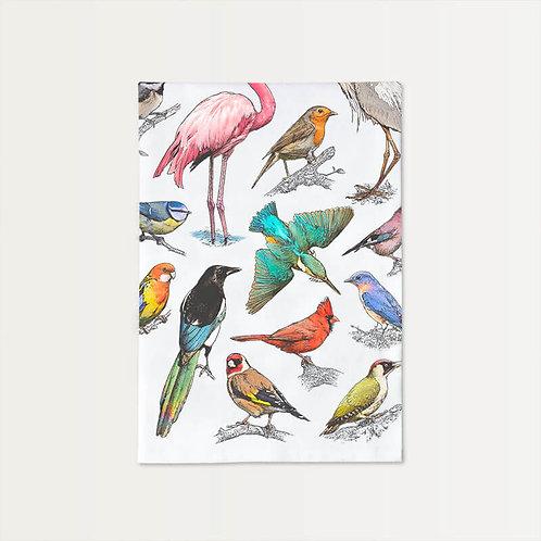 Bird Menagerie Cotton Towel