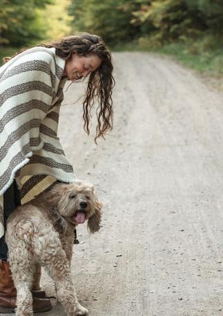 DogGirlRoad-WovenBlanket.jpg