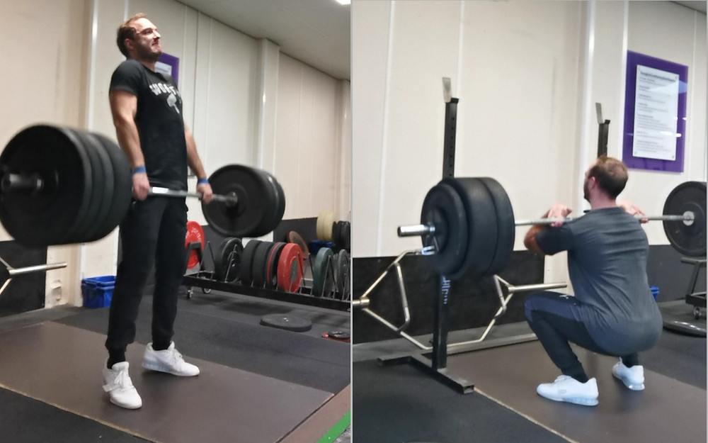 strength exercise (squat and deadlift) programming for weightlifting