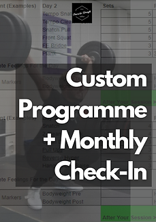 Custom Programme plus monthly check-in.p