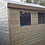 Thumbnail: 8'x6' Tanalised 13mm t&g shiplap shed APEX roof, X2 FIXED WINDOWS