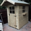 """Thumbnail: 6'x4' Tanalised 19mm t&g loglap Delux shed apex roof+18"""" canopy+locking handle"""
