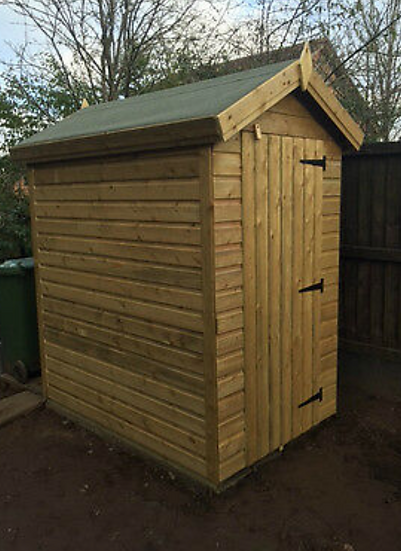 6'x4' FULLY TANALISED 13mm t&g shiplap shed Apex roof/all sizes available