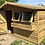 "Thumbnail: 12'x10' FULLY TANALISED 19mm t&g Loglap Summerhouse Apex roof + 18"" Canopy"