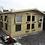 "Thumbnail: 14'X10' Tanalised 19mm t&g Loglap Summerhouse reverse apex+18"" canopy+4xopeners!"
