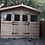 "Thumbnail: 10""x10"" TANALISED 13mm t&g SHIPLAP summerhouse double STABLE doors +18"" canopy"