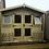 Thumbnail: 9' x 9' TANALISED EXCLUSIVE 19mm t&g loglap summerhouse inc Porch & canopy**