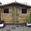"Thumbnail: 11'x7' Tanalised 13mm t&g SHIPLAP Summerhouse reverse apex inc 18"" canopy"
