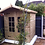 "Thumbnail: 6'X 6' FULLY TANALISED 19mm t&g loglap summerhouse+18"" CANOPY/GEORGIAN GLASS"
