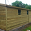 Thumbnail: 25'x10' FULLY TANALISED 19mm t&g shiplap shed Apex Roof + 3ft side canopy