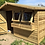 "Thumbnail: 12'x10' FULLY TANALISED 13MM t&g Shiplap Summerhouse Apex roof + 18"" Canopy"