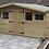 "Thumbnail: 15'x10' Tanalised 19mm t&g loglap shed reverse apex inc 18"" canopy+ 2xopeners"