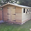 """Thumbnail: 15'X10' FULLY TANALISED 19mm t&g loglap heavy duty shed apex roof inc 18"""" canopy"""