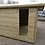 "Thumbnail: 10'x8' FULLY TANALISED 13mm t&g SHIPLAP Summerhouse Reverse Apex + 18"" Canopy"