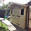"Thumbnail: 8'x5' Tanalised 19mm t&g loglap heavy duty shed inc an addtional 18"" canopy"