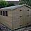 Thumbnail: 12'x10' FULLY TANALISED 13mm t&g shiplap shed apex roof/double doors/4 WINDOWS