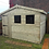 Thumbnail: 10'x8' FULLY TANALISED 13mm t&g Shiplap shed Reverse Apex Single Door/all sizes