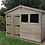 "Thumbnail: 10""x 8"" TANALISED 19mm t&g shiplap shed reverse apex roof HEAVY DUTY"