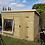 Thumbnail: 14'x8' 19mm TANALISED t&g shiplap CORNER summerhouse/shed combi, pent roof.