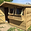 "Thumbnail: 12' x 10' TANALISED 19mm t&g LOGLAP Summerhouse Reverse Apex + 18"" Canopy"