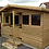 "Thumbnail: 15' x 10' TANALISED 19mm t&g LOGLAP summerhouse reverse apex + 18"" canopy"
