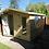 "Thumbnail: 10'x10' FULLY TANALISED 19mm t&g Loglap Summerhouse Reverse Apex + 18"" Canopy"