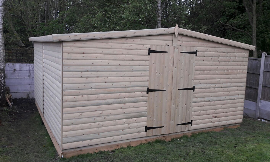16' x 16' Tanalised 19mm t&g loglap HEAVY DUTY SHED/ STOREROOM/inc extra height