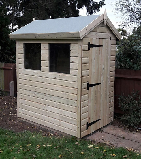 6'x4' FULLY TANALISED 19mm t&g shiplap heavy duty shed Apex roof
