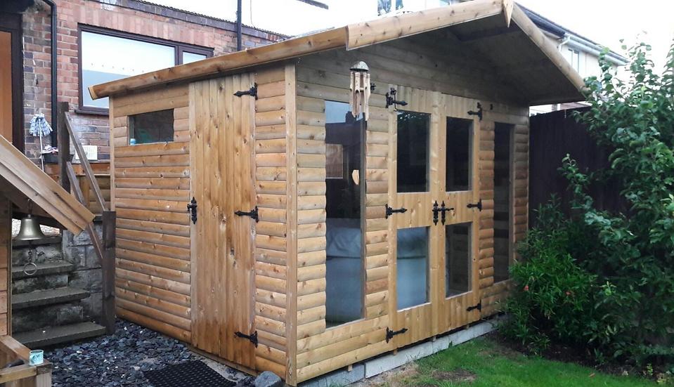 10'X8 FULLY TANALISED 13mm t&g SHIPLAP hot tub shed/summerhouse