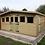 "Thumbnail: 16'x10' TANALISED 19mm t&g LOGLAP summerhouse reverse apex+18"" canopy"