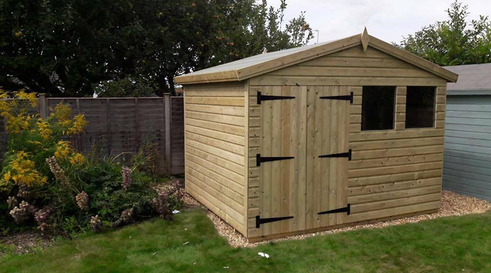10'x8' FULLY TANALISED 13mm t&g Shiplap shed Reverse Apex/all sizes available