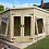 Thumbnail: 14'x8' 19mm TANALISED t&g shiplap CORNER summerhouse/shed combi, pent roof.