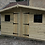 Thumbnail: 13'X10' FULLY TANALISED 19mm T&G loglap summerhouse LEAD PATTERNED GLASS