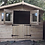 "Thumbnail: 10""x10"" TANALISED 19mm t&g LOGLAP summerhouse double STABLE doors +18"" canopy"
