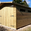 "Thumbnail: 17'X10' Tanalised SECURITY GARAGE 19mm t&g loglap 18"" canopy & Extra Height"