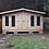 "Thumbnail: 16' x 10' TANALISED 19mm t&g LOGLAP summerhouse reverse apex inc 18"" canopy"