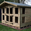"Thumbnail: 12' x 8' 19mm t&g loglap summerhouse TANALISED reverse apex with 18"" canopy"