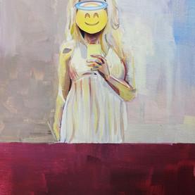 Untitled 2, Acrylic on Canvas, 40 x 25 cm