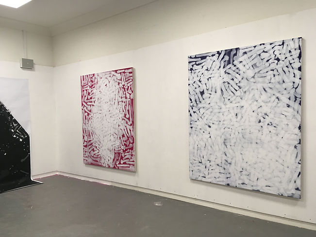 Reb T, Painting, 2019: This is my show (reprise), solo exhibition Edinburgh college of art, edinburgh, View 2