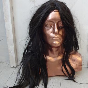 Spray Tan + Black Wig
